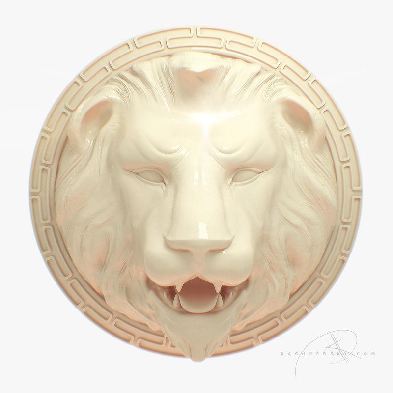 lions head fountain 3d model