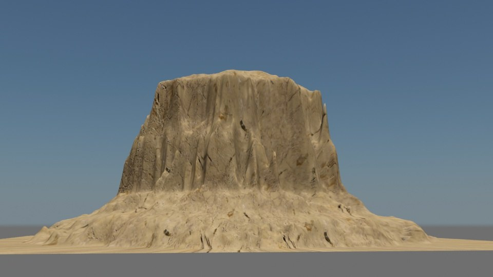 designing mountains 3d model