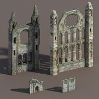 Castle Ruin Pack Low poly 3d Model(1)