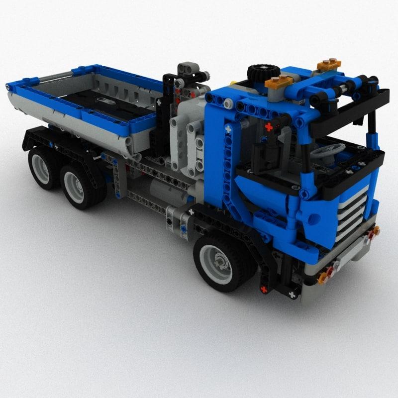lego technic set 8052 3d model