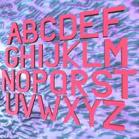 3d simple alphabet