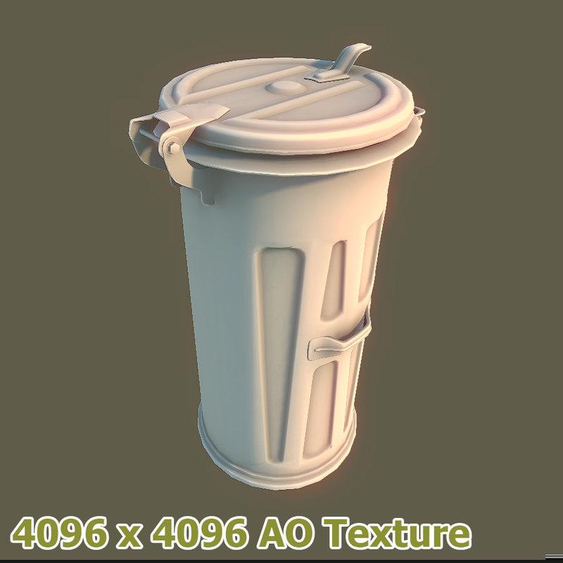 3d container trash medium