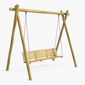 max garden wood swing