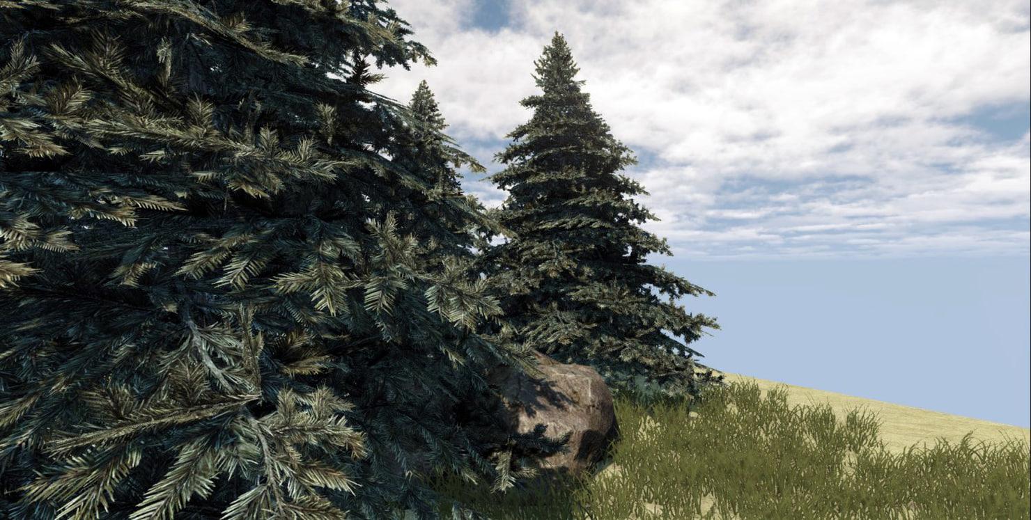 fir-tree rock 3d model