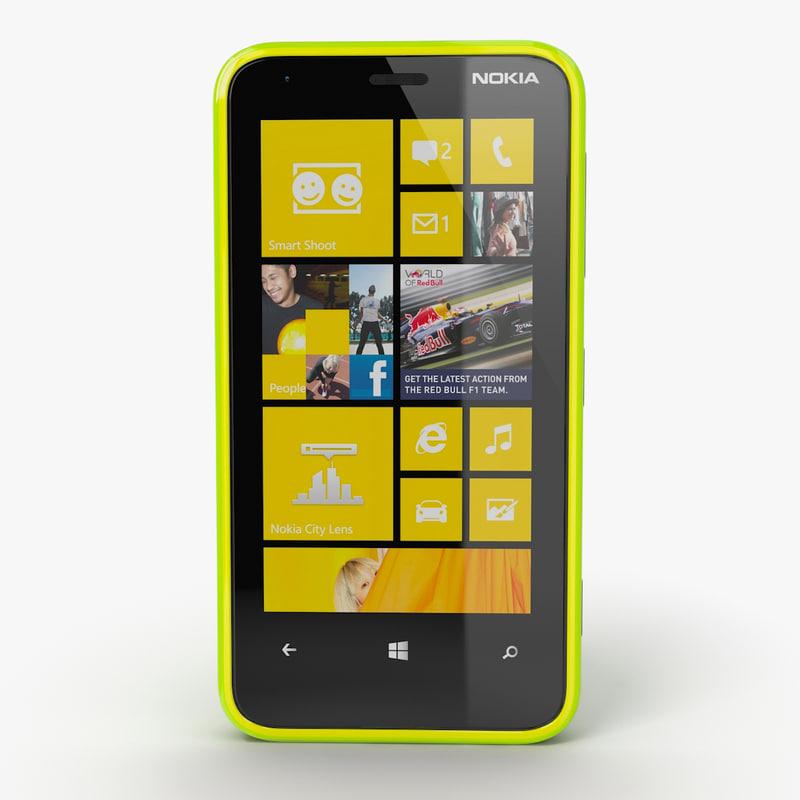 nokia lumia 620 3d obj