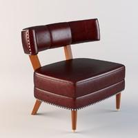 sorbonne armchair chair 3d obj
