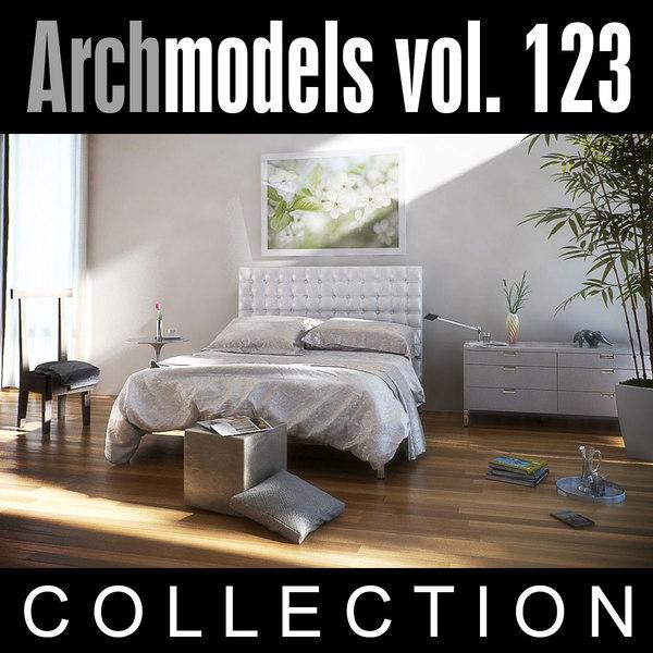 3ds max archmodels vol 123 bedroom