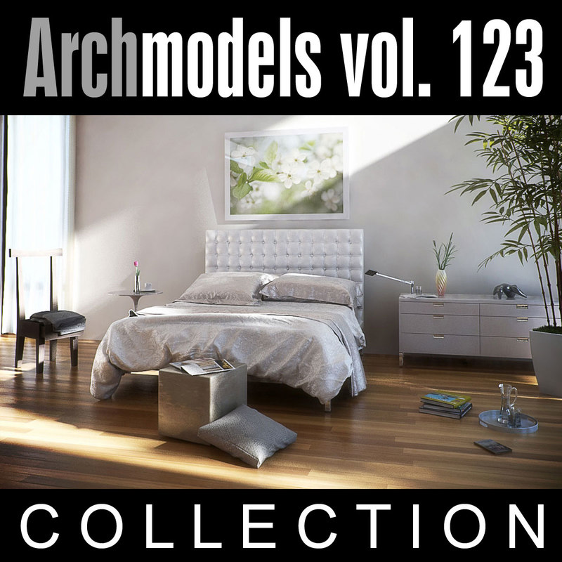 3ds max archmodels vol 123 bedroom