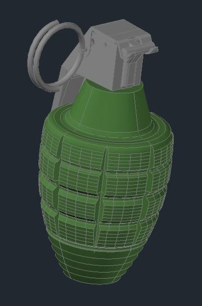 mk2 grenade mk ii 3d model