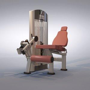 3ds max leg extension machine