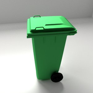 3d outdoor garbage model