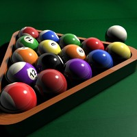 3d model billiard ball table