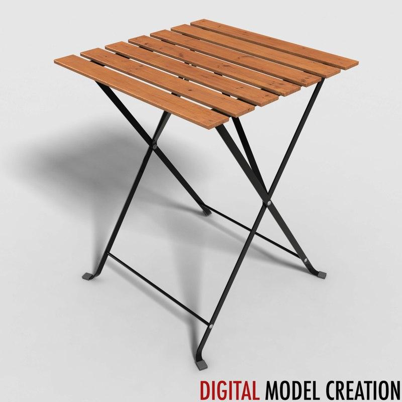 table bistros 3d model