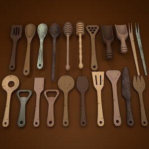 set spoons 3d model