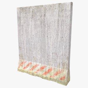 3d model of concrete block