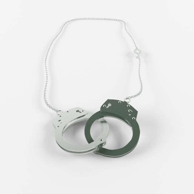 3d handcuff necklace model