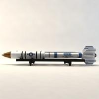 asat missile 3d max