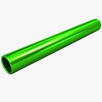 3d aluminum track baton model