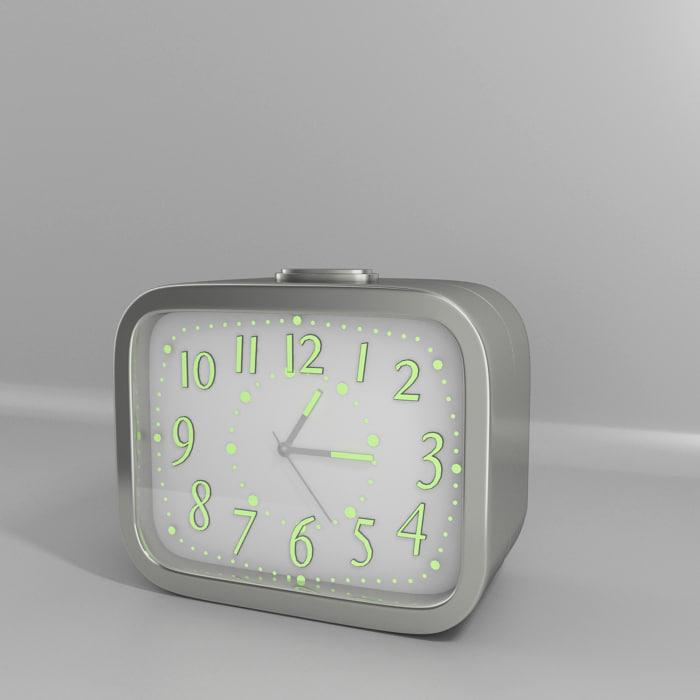 3d small alarm clock model
