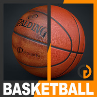 spalding official basketball balls 3d model