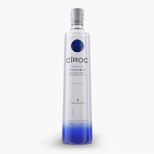 3d ciroc vodka bottle model