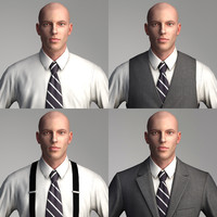 business people - characters 3d max