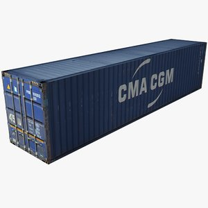 3d model cma shipping cargo container