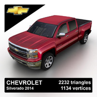 2014 chevrolet silverado pickup truck 3d 3ds