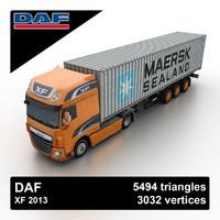 2013 daf xf 3d model