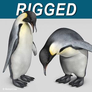 3d emperor penguin model