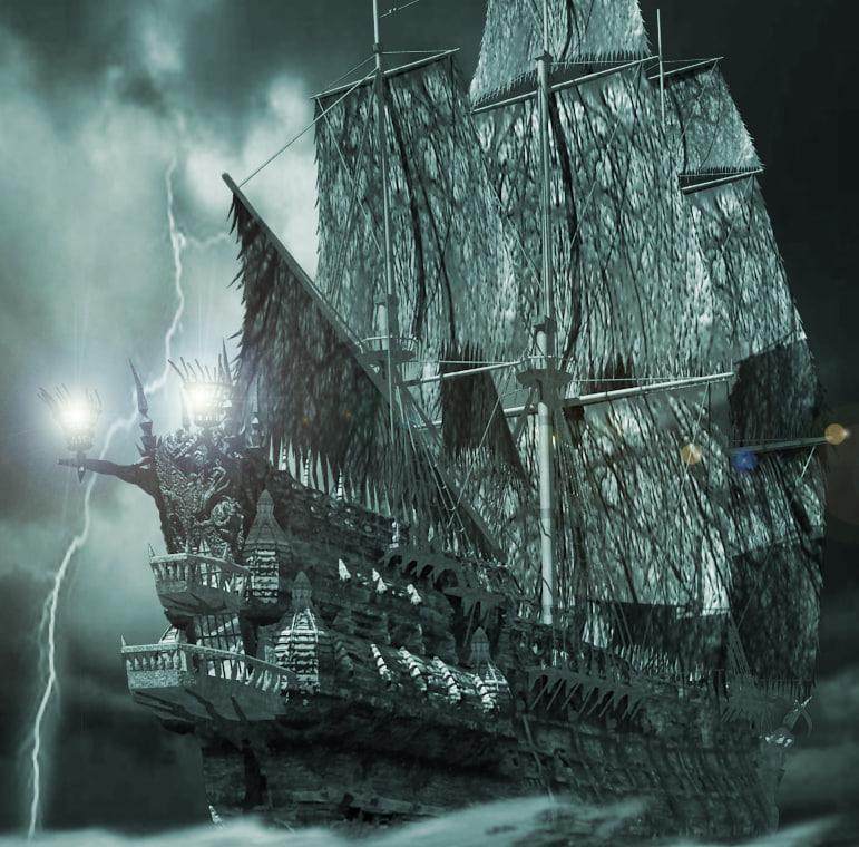 3d flying dutchman ship pirates model
