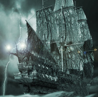 3d flying dutchman ship pirates model