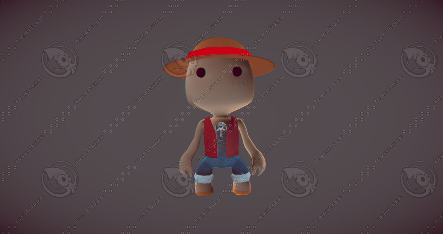 free obj model luffy little big planet