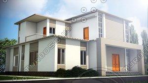 3d model 2 story house