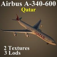 3d airbus qtr model