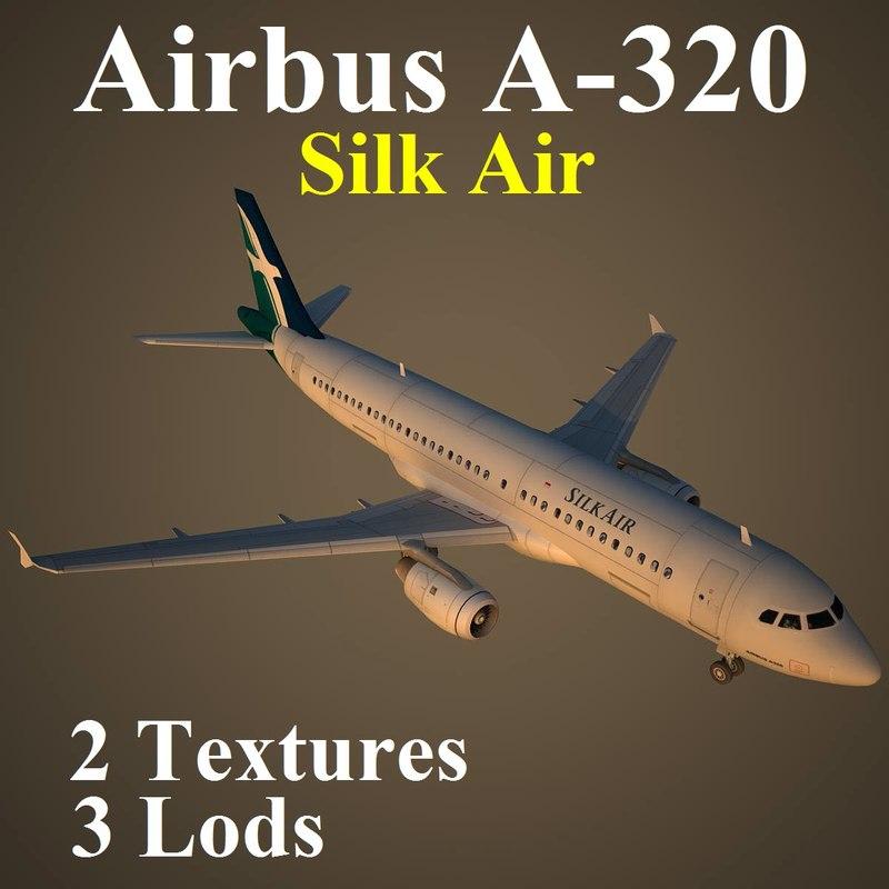 3d model of airbus slk