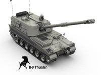 3d model of k-9 thunder