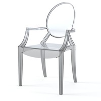 Kartell Louis Ghost Philippe Starck Glass Armchair