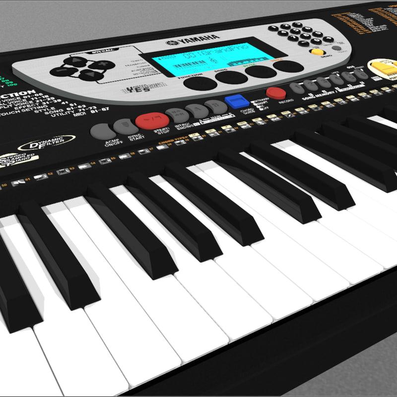 keyboard yamaha 3d c4d