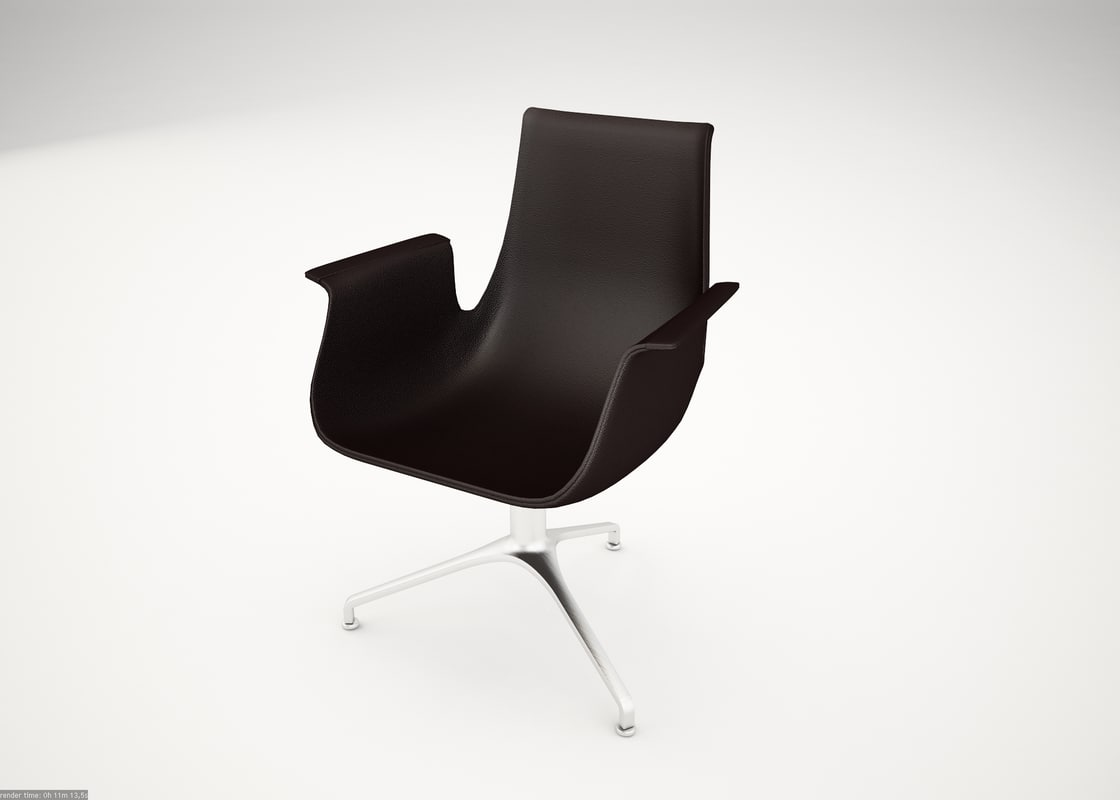 fk chair designer walter knoll 3d model
