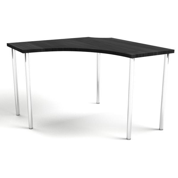 Corner Table Black Brown Silver 3d Model