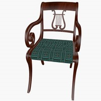 lyre chair 3d 3ds