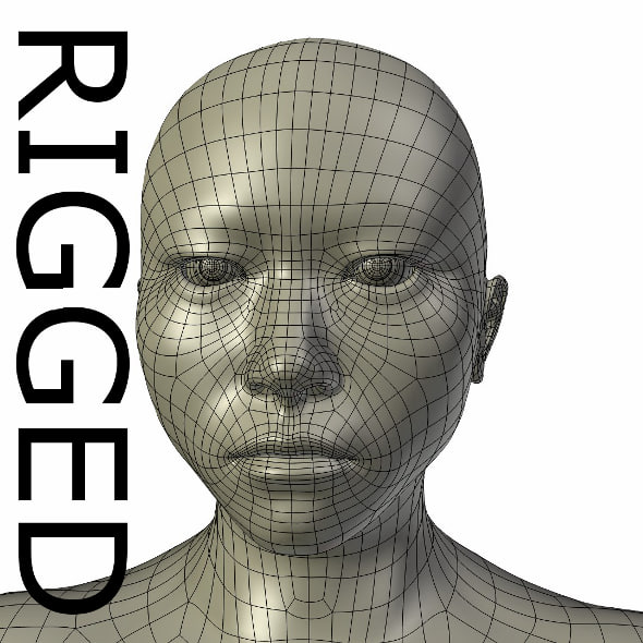 3ds max rigged base mesh asian man