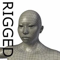 rigged base mesh muscular 3d obj