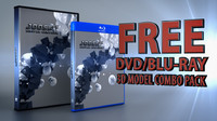 free dvd bluray case 3d model