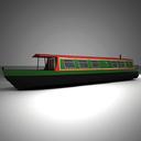 canal boat 3D models