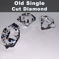 3ds max old single cut diamond
