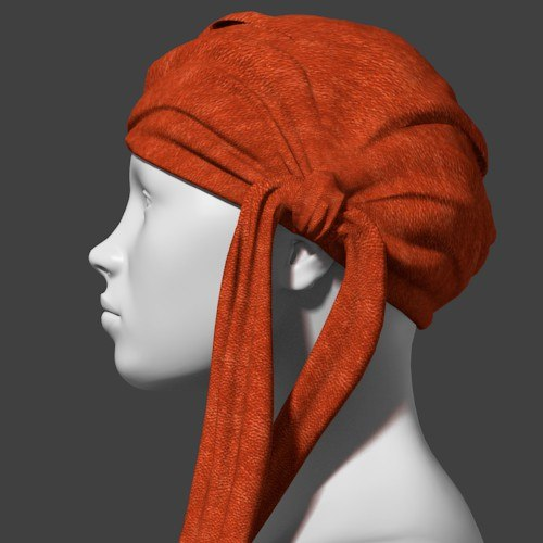 pirate scarf 3d obj