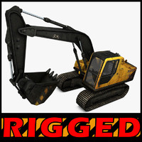 Excavator Rigged