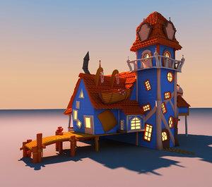 toon house s 3d obj